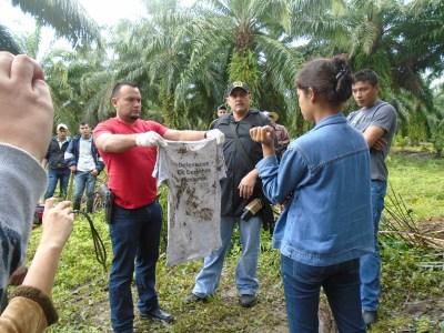 Camisa que vestia Cristian cuando fue secuestrado