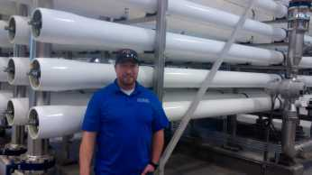 David Beck is the water treatment plant operator for the city of Sterling