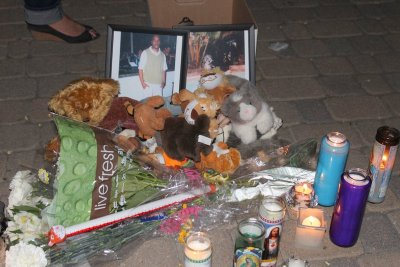 A memorial service held at the Denver Zoo on July 19, 2012. Alonzo Ashley was killed by Denver Police at the Denver Zoo July 18, 2011.