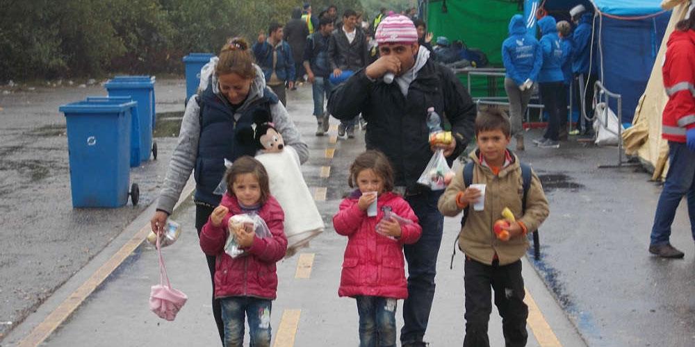 Refugee Family in Budapest