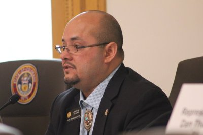 Congressman Joe Salazar defending his Homeless Bill of Rights legislation on April 27, 2015.