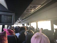 women's march bus