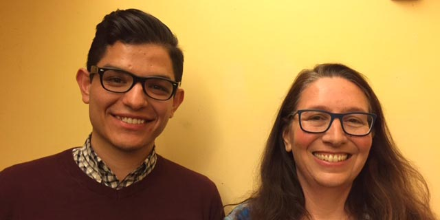 Marco Dorado and Erika Blum