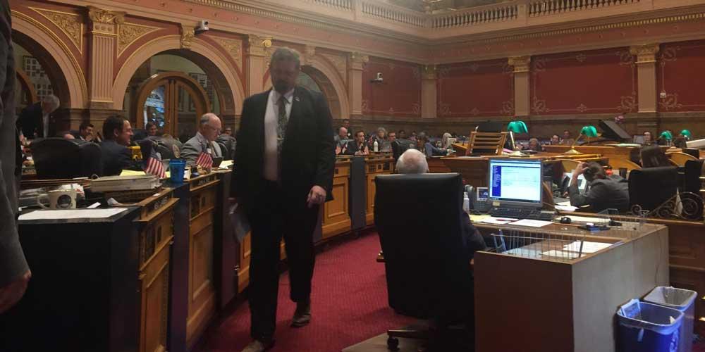 Republican Senate President Kevin Grantham