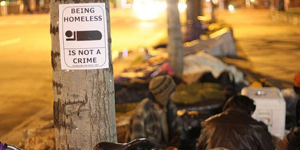 Being Homeless Is Not a Crime