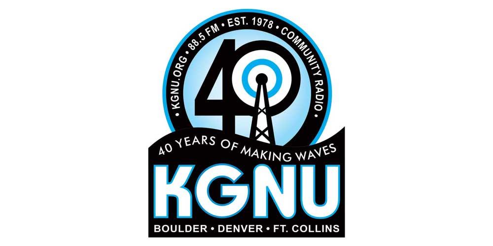 KGNU 40 Banner