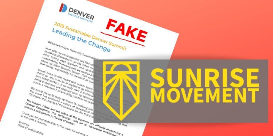 Sunrise Movement Colorado Explains Their Fake City of Denver Letter_KGNU-min