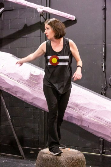 Director Missy Moore on the set of The Squirrels at The Aurora Fox Arts Center January 17 - February 9, 2020.