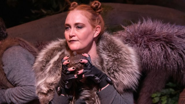 Kelly Uhlenhopp in The Squirrels at the Aurora Fox Arts Center January 17 - February 9, 2020.