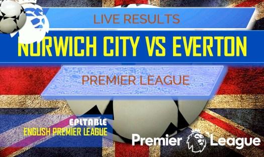 English Premier League Results: Norwich City vs Everton Score
