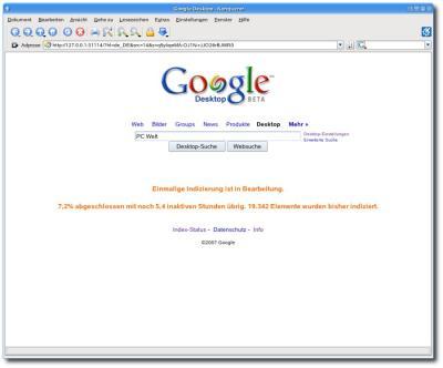 Google Desktop im Konqueror