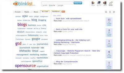 Startseite Blinklist