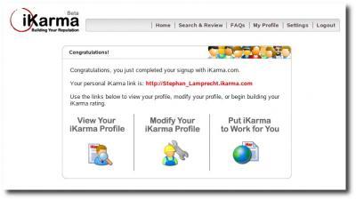 Homepage iKarma