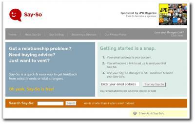 Startseite Say-So