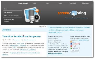 Startseite Screencasting