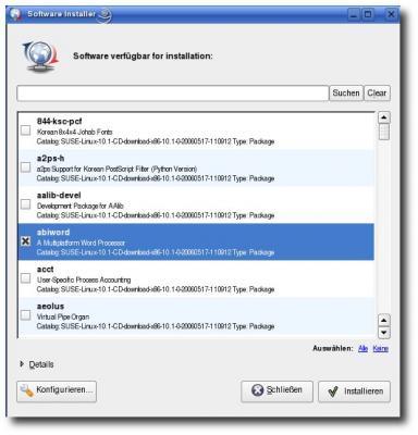 Softwareinstallation in SuSE 10.1