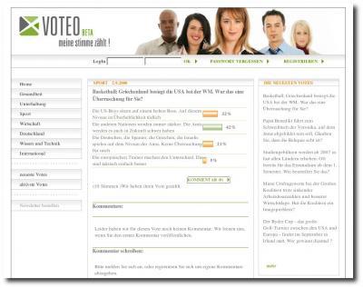 Oberfläche Voteo