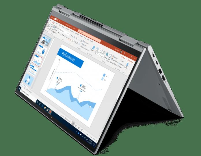 ThinkPad X1 Yoga G6 in tent mode