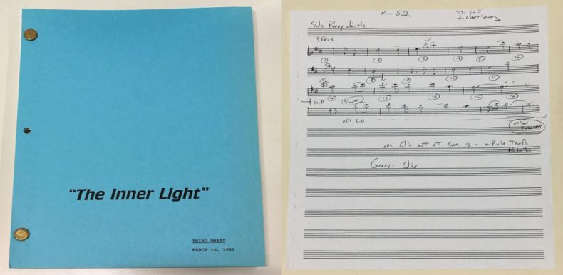 "Cover and sheet music for penny whistle solo from ""The Inner Light"""