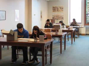 Students researching in the SCPA Reading Room
