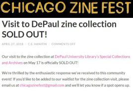 Zine Fest sold out