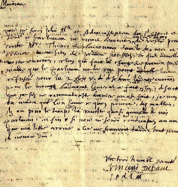 St. Vincent DePaul Letter