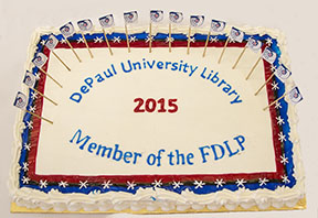 The DePaul University Library announced their designation as the newest member of the Federal Library Depository Program (FLDP) Friday, Nov. 13, 2015, in the Scholar's Lab of the John T. Richardson Library. As a member of the FLDP, the DePaul University Library joins more than 1,200 other libraries around the world in promoting access to resources and tools provided by the United States government. The online information will be available to the entire DePaul community as well as the public, and will include the latest government data, including information from the U.S. Census Bureau, the newest public laws approved by Congress and even the daily compilation of presidential documents. (DePaul University/Jamie Moncrief)