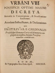 Urbani VIII title page