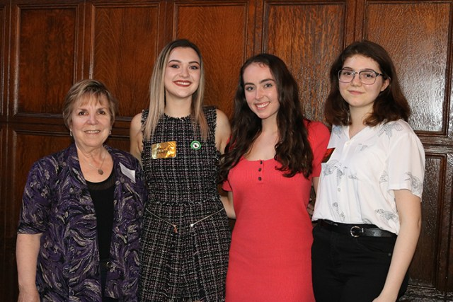 First Year Library Research Prize Winners with Terry Taylor