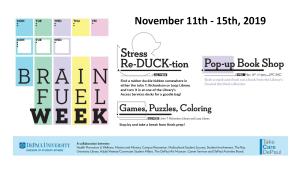 Brain Fuel Week Poster