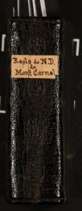 Image showing the spine of the pocket-sized Regle et Constitutiones..., 1626