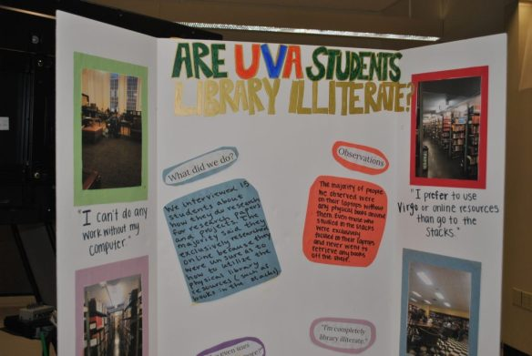 Poster: Are UVA students library illiterate?