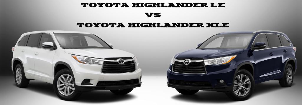 toyota-highlander-le-vs-toyota-highlander-xle