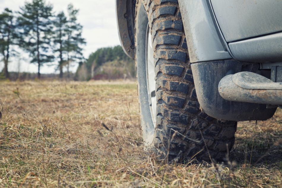 Mud rubber for car for off-road driving.