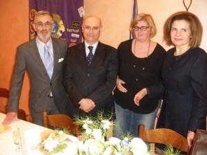 Il Segretario Pier Felice Scagliotti, il relatore Dott. Luigi Bellizzi, il Sindaco di Odalengo Piccolo Mirella Panatero, la Presidente Emanuela Pastorelli