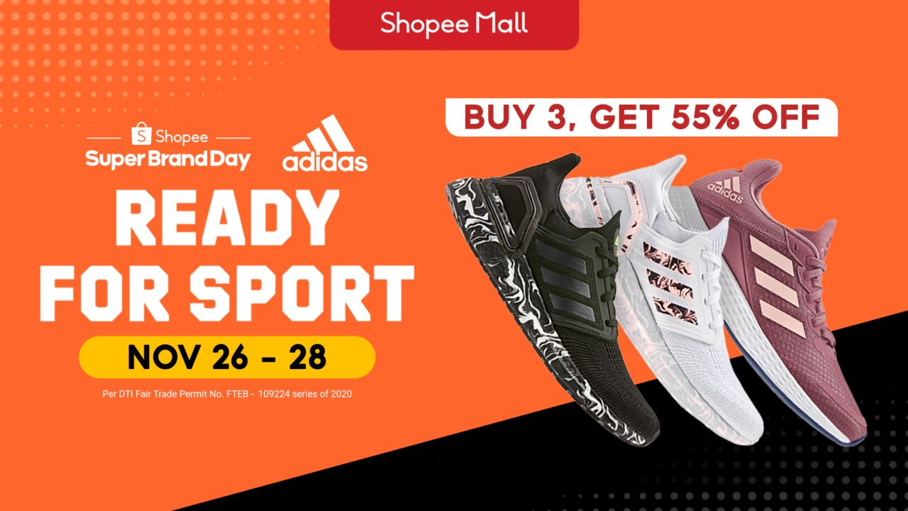Adidas Launches 1st Regional Super Brand Day Sale with Shopee in the Philippines