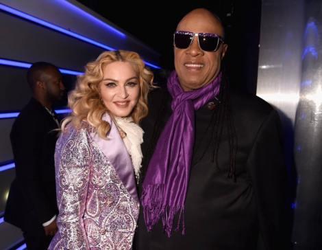 Madonna and Stevie Wonder