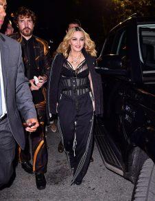 Madonn at the Alexander Wang fashion show