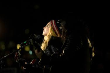 Madonna performs in support of the Hillary Clinton campaign at Washington Square Park