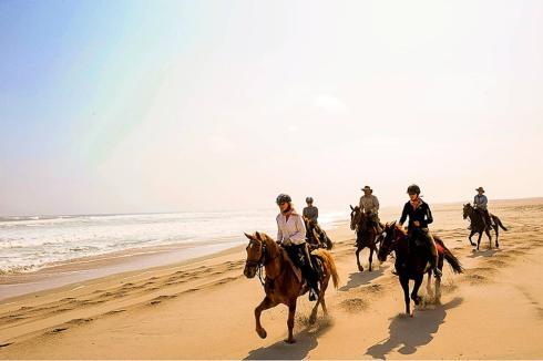 Madonna horseback riding