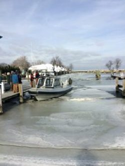 Photo of NRP Patrol Boat after river rescue
