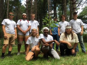 Photo of Natural Resources Careers Camp campers.