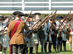 Photo of Frederick county Militia Reenactors at Fort Frederick State Park