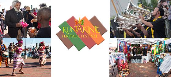 Photo collage of Kunta-Kinte Heritage Festival