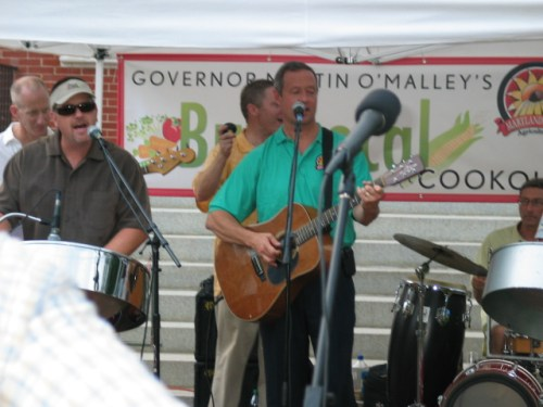 Governor O'Malley, at the 2012 Buy Local Cookout