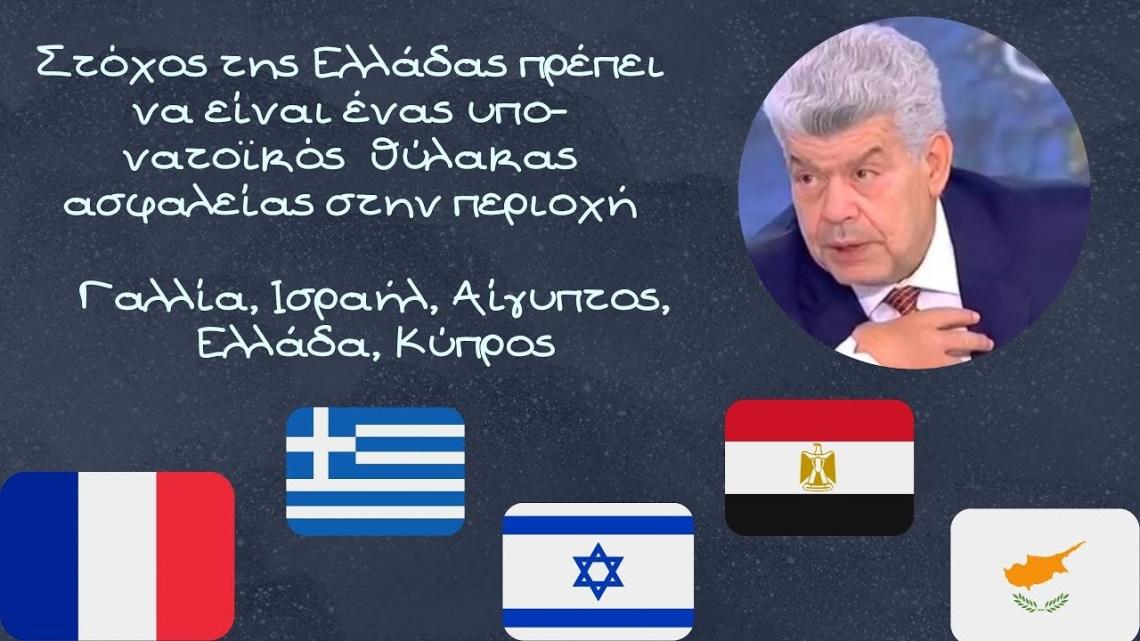 Γιάννης Μάζης, Στόχος της Ελλάδας πρέπει να είναι μια συμμαχία με Γαλλία, Ισραήλ και Αίγυπτο