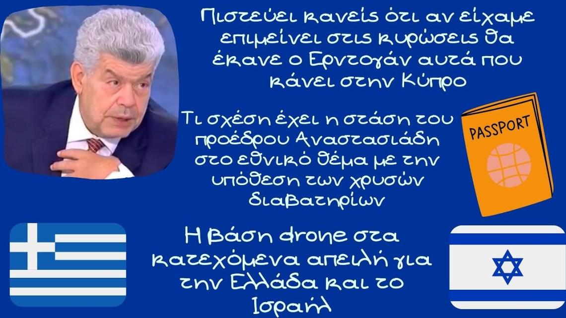 Γιάννης Μάζης, Η βάση drone στα κατεχόμενα απειλή για την Ελλάδα και το Ισραήλ