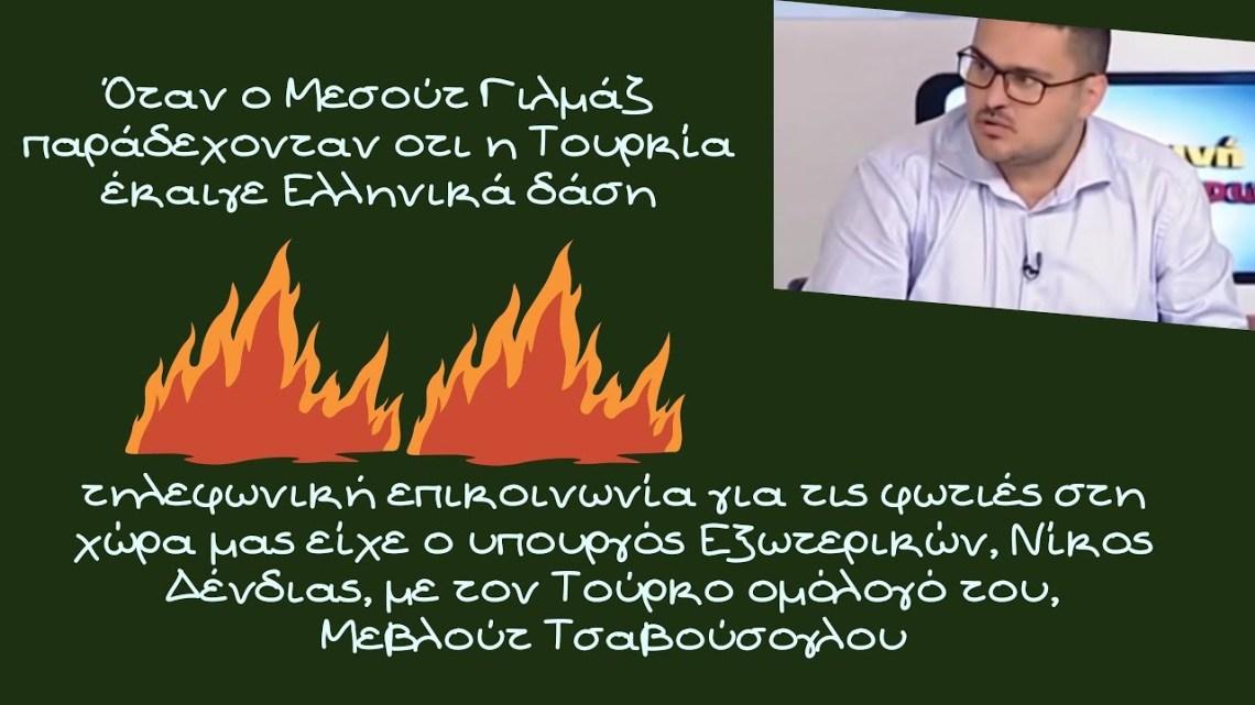 Γιώργος Λυκοκάπης, Όταν ο Μεσούτ Γιλμάζ παράδεχονταν οτι η Τουρκία έκαιγε Ελληνικά δάση