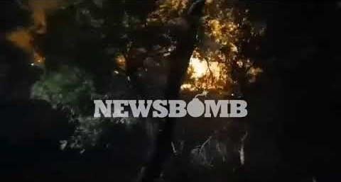 newsbomb.gr: Φωτιά στη Νέα Μάκρη – Εικόνα μέσα από το πύρινο μέτωπο