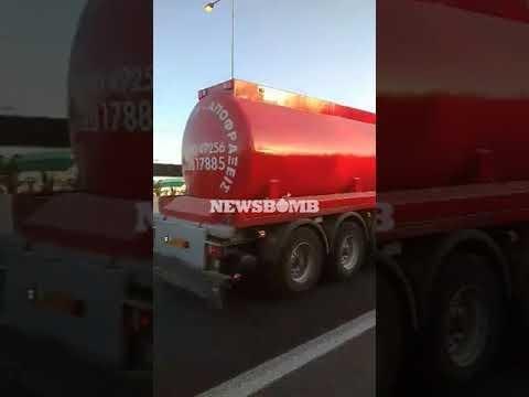 newsbomb.gr: Καραμπόλα πέντε οχημάτων στην Εθνική Οδό